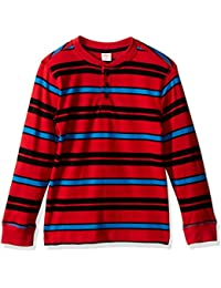 Gymboree Big Boys' Long Sleeve Red Stripe Henley