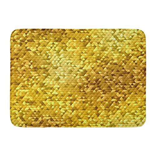 - Emvency Doormats Bath Rugs Outdoor/Indoor Door Mat Brown Golden Yellow Mosaic Abstract Pattern Block Board Bright Bronze Bathroom Decor Rug Bath Mat 16