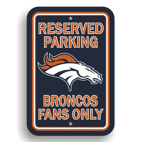 NFL Denver Broncos Plastic Parking Sign (Denver Broncos Home Decor)