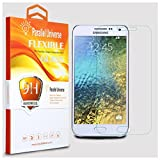 Original Samsung Galaxy E7 Tempered Glass Screen Protector Unbreakable Flexible Screen Guard With Installation Kit By Parallel Universe - Transparent