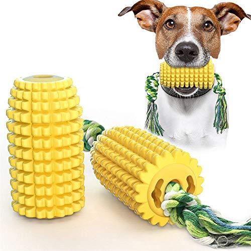 Comprar Cepillo de dientes para perros, juguete de maíz con cuerda resistente a las mordidas, TPR amarillo, eficaz interactivo.