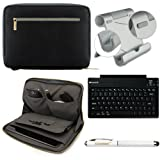 Faux Leather Carrying Bag Sleeve Case For Verizon Ellipsis 7 HD Tablet 4G LTE + Bluetooth Keyboard + Metal Stand + Stylus Pen, Best Gadgets