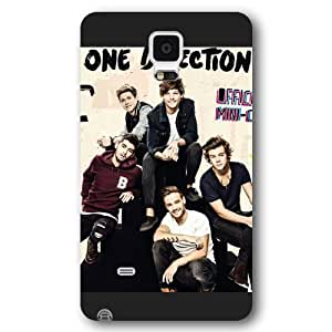 UniqueBox Customized Black Frosted Samsung Galaxy Note 4 Case, One Direction(1D) Samsung Note 4 case