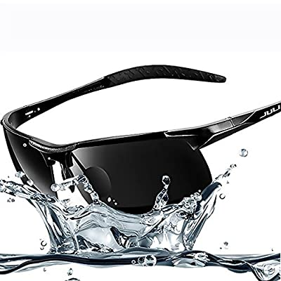 JULI Polarized Sunglasses,Sports Designer Fashion Sunglasses for Men Women Driving Baseball Cycling Fishing Golf Al-Mg Alloy Superlight Unbreakable Frame
