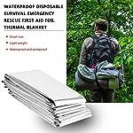 frYukiko Waterproof Disposable Survival Emergency Rescue First Aid Foil Thermal Blanket 9