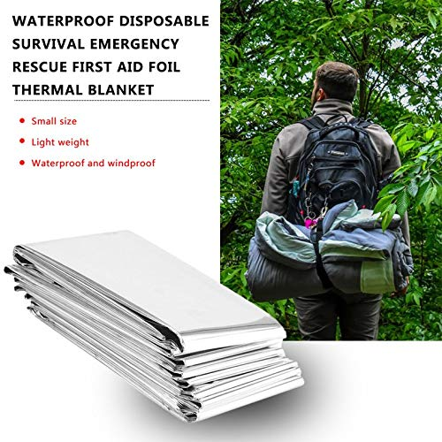 frYukiko Waterproof Disposable Survival Emergency Rescue First Aid Foil Thermal Blanket 4