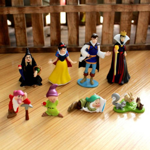 [snow white princess family figure figures doll set of 8pcs dolls toy new] (Lion Halloween Costumes Women Homemade)