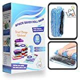 Space Saver Travel Bags for Packing and Storage - 10 Compression Bags No Vacuum