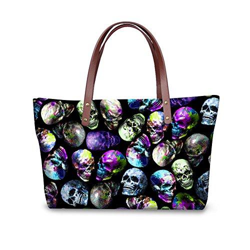 Women FancyPrint Foldable Satchel Bags Wallets Top Handle C8wcc3535al Fashion Handbags Purse AwFrqfXnRw