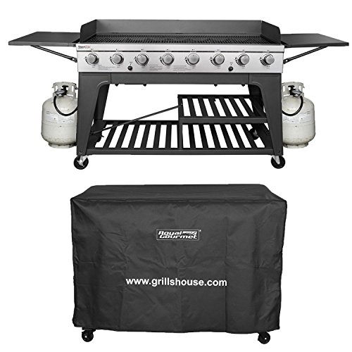 Royal Gourmet Event 8-Burner BBQ Propane Gas Grill with Cover Royal Gourmet Corp