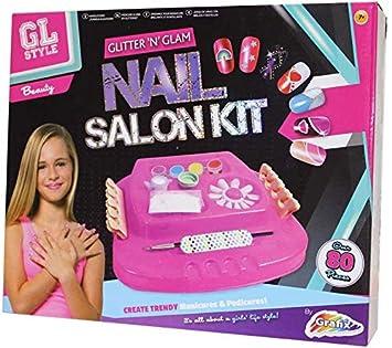 GL Style Glitter \'N\' Glam Nail Salon Kit, 3+, Pink: Amazon.co.uk ...