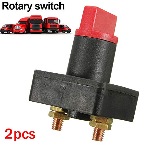 100a Battery Master Disconnect Rotary Cut off Isolator Power off Switch Car Van Boat (2PCS)