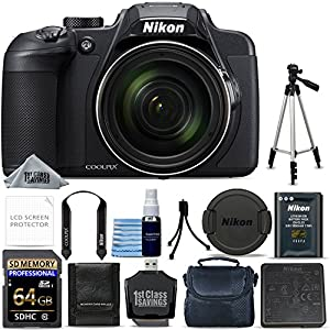 Nikon COOLPIX B700 20.2 MP 60x Optical Zoom Super Telephoto NIKKOR Digital 4K Wi-Fi Camera + 64GB Memory + Starter Bundle + Tripod