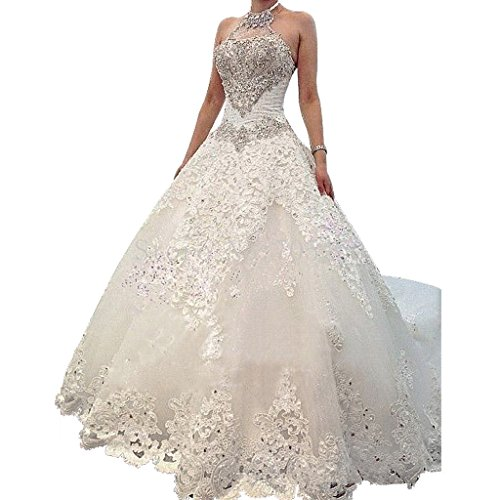 Borje Charming Design Top Crystal Luxury Wedding Dress With Cathedral Train