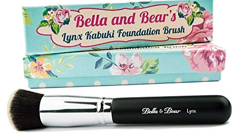 Foundation Brush - Kabuki - Our Professional Flat Stippling Brush Works with Liquid - Mineral and Powder (Professional Stippling Brush)