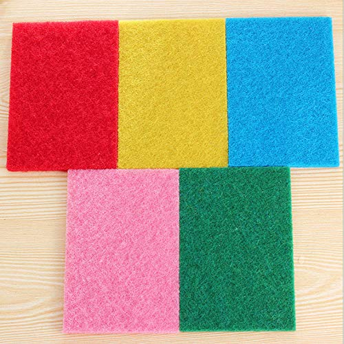 FRCOLT 10PCs New Kitchen Home Good Cleaner Scouring Scour Scrub Cleaning Pads Random Color (10 Pieces, Random Color) by FRC0LT (Image #3)