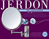 Jerdon JP7506N 8-Inch Wall Mount Makeup Mirror with