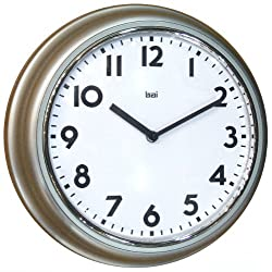 BAI School Wall Clock, Silver