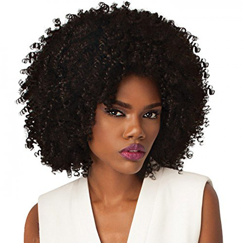 Price comparison product image Half wig by Outre. Quick Weave. Big Beautiful Hair range. 4a Kinky: Black Colour 1B