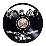 Guns N' Roses Vinyl Record Wall Clock – Get unique Home Room or Garage wall decor – Gift ideas for friends, men and women – Music Band Unique Modern Art Review