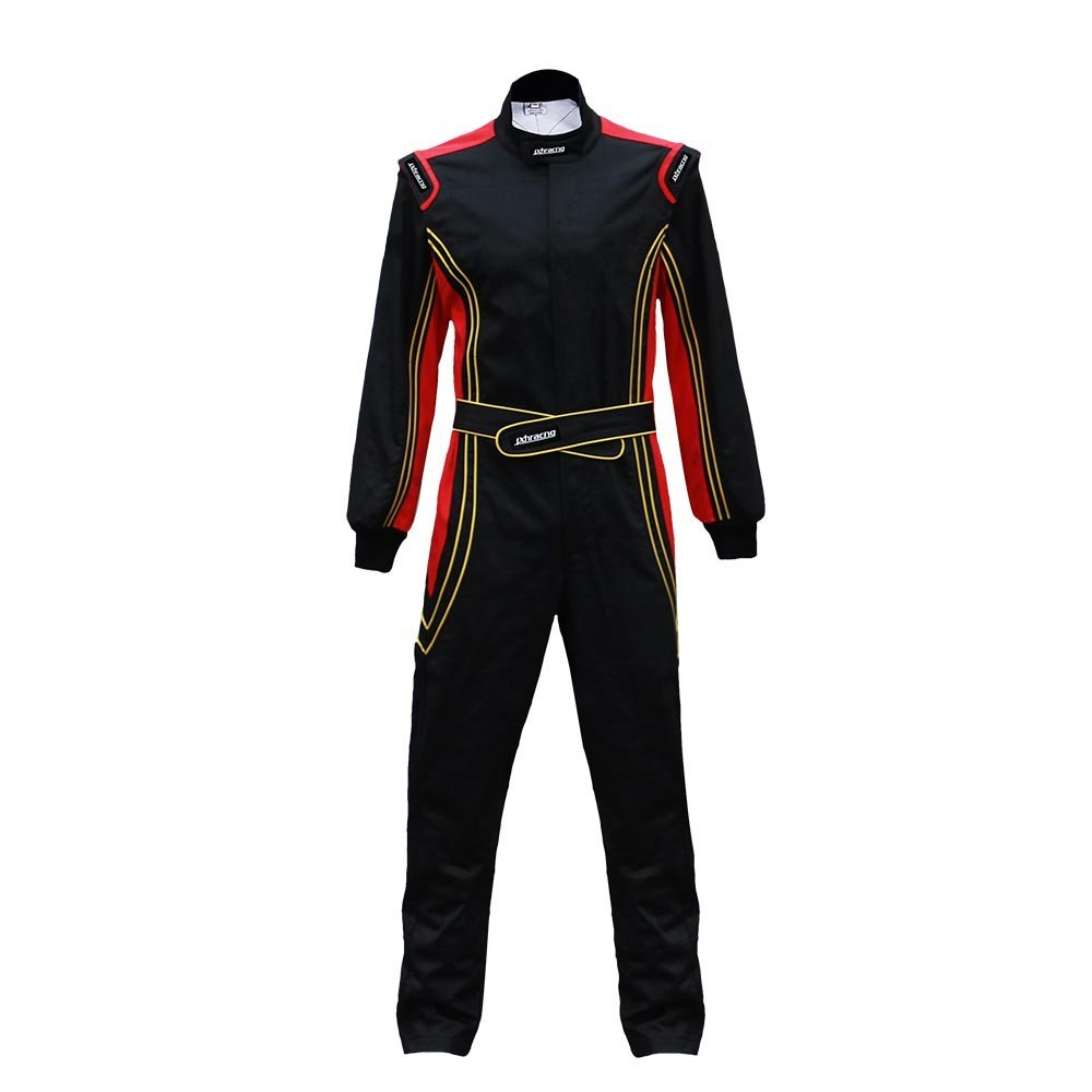 jxhracing RB-CR014 One Piece Auto Go Karts Racing Suit-SFI rated-Red X Small