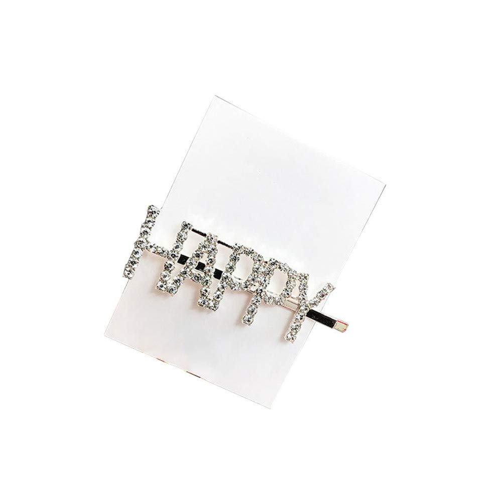 0ab651b20 Rhinestone Hair Clip Letter Style Crystal Hairpin Barrette Women's Girls  Hair Styling Tool Bridal Hair Accessories Silver ('SWEET' Word):  Amazon.co.uk: ...