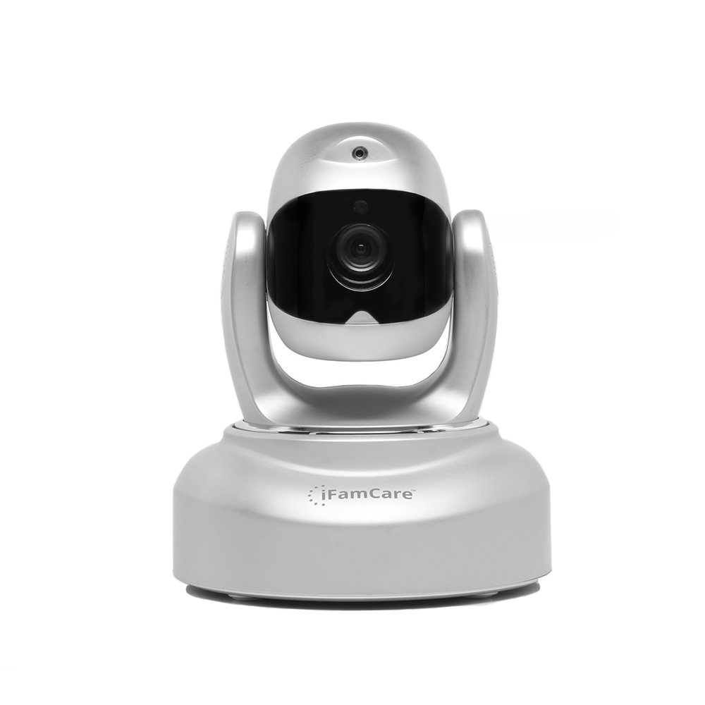 iFamCare Helmet 1080p Wi-Fi Remote Pet Cam Monitor with Pet Laser, Silver by iFamCare