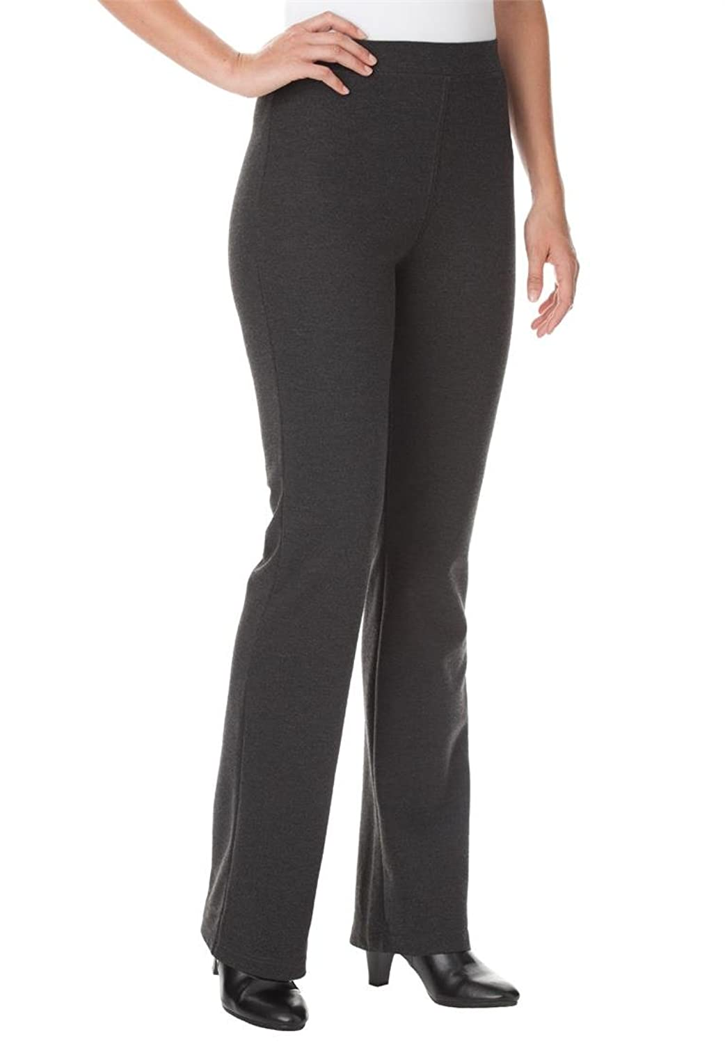 Women's Plus Size Pants, Boot-Cut In Ponte Knit