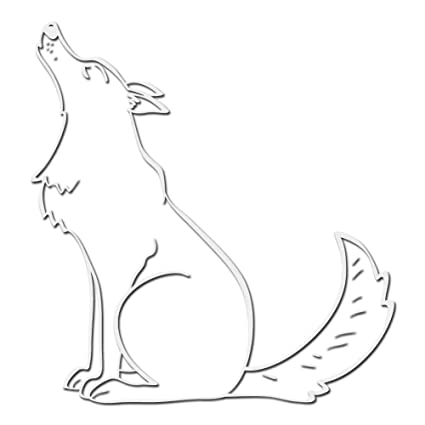 Amazon com: Milk Mug Designs Howling Wolf Spirit Animal Decal