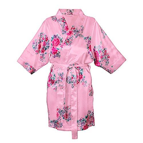 Cathys Concepts Floral Satin Robe