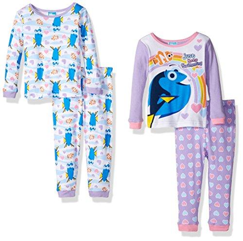 Disney Girls Finding Dory Toddler 4-Piece Pajama Set