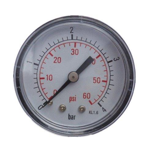Pool Spa Jacuzzi Filter 0-60 PSI Pressure Gauge Back Mount 1/2