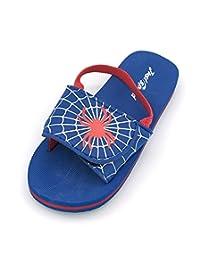 Just Speed Toddler Boy Kid Toddler Baby Layback Sandal Slider Flip Flop Spider Web