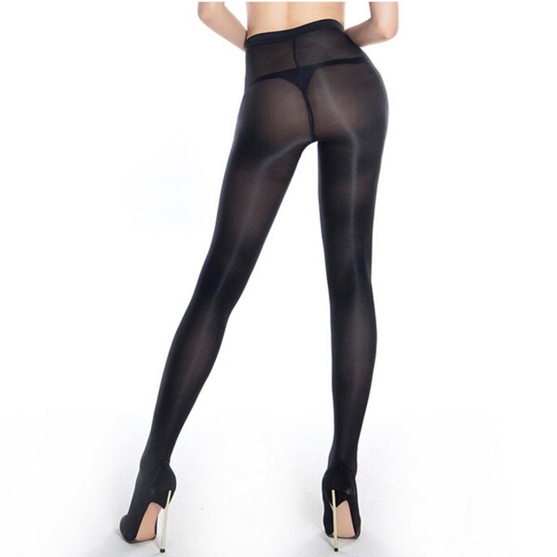 18824fd6ff4 Amazon.com  Wintialy Women Pantyhose Non Snag Tights Control Top Sheer for  Business Suit Run Resistant Silk Reflection (Black)  Clothing