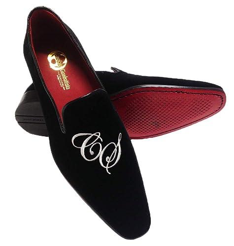 Garofalo Gianbattista - Mocasines de Terciopelo para Hombre Negro Negro: Amazon.es: Zapatos y complementos