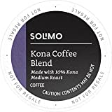 Amazon Brand - 100 Ct. Solimo Medium Roast Coffee Pods, Kona Blend, Compatible with 2.0 K-Cup Brewers