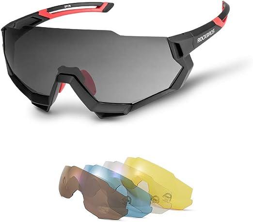 RockBros Bicycle Polarized Eyewear Goggles Full Frame Sunglasses Black Gray