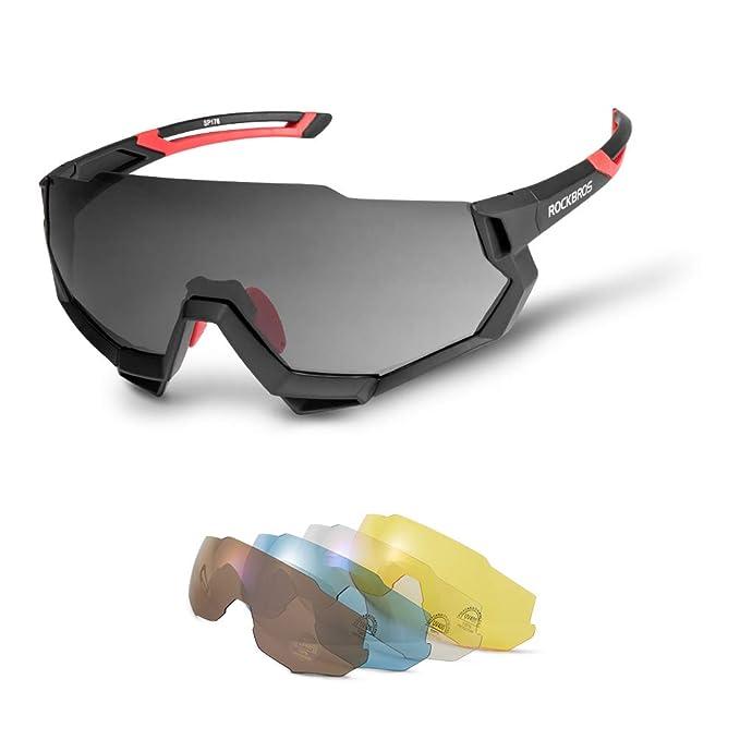 Amazon.com: ROCK BROS - Gafas de sol deportivas polarizadas ...