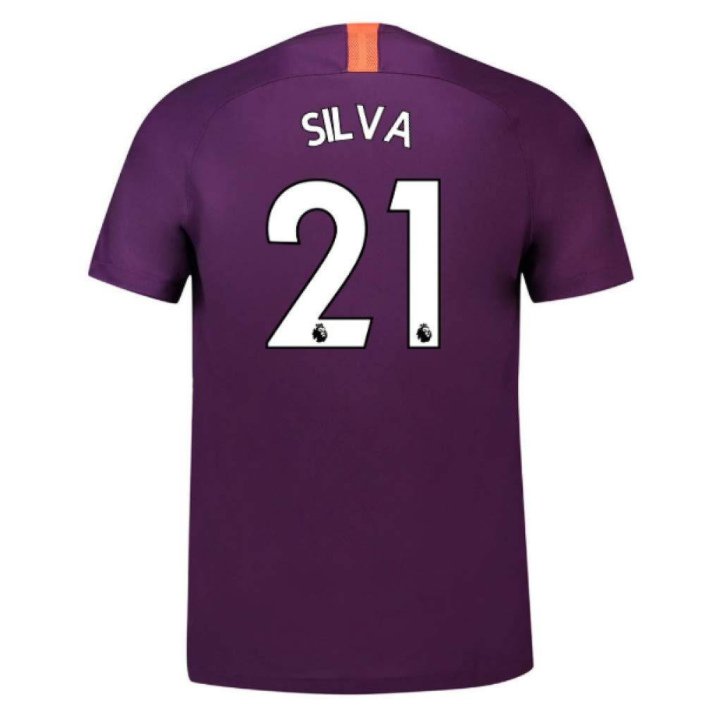 2018-2019 Man City Third Nike Football Soccer T-Shirt Trikot (David Silva 21) - Kids