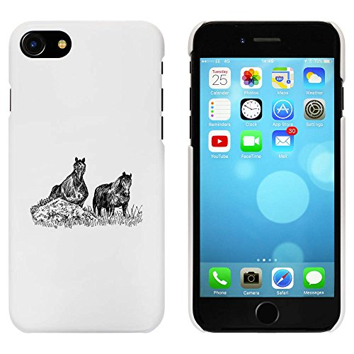 Blanc 'Les chevaux' étui / housse pour iPhone 7 (MC00074140)