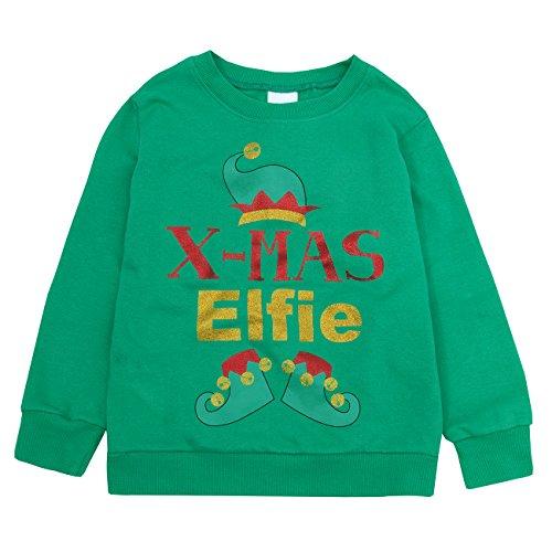 Childrens Christmas Jumper Long Sleeved Top by 4Kidz