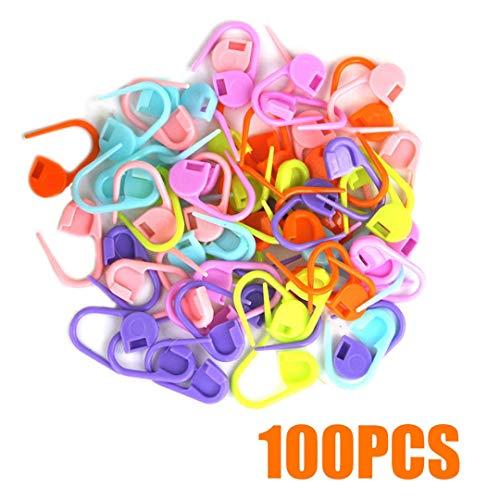 Tools & Accessory - 20 100 500pcs Mixed Color Knitting Crochet Locking Stitch Needle Clip Marker - Black Lock Insert Jersey Stitch Sweater Sweater Sweater Tool Clip Hand Sweater ()