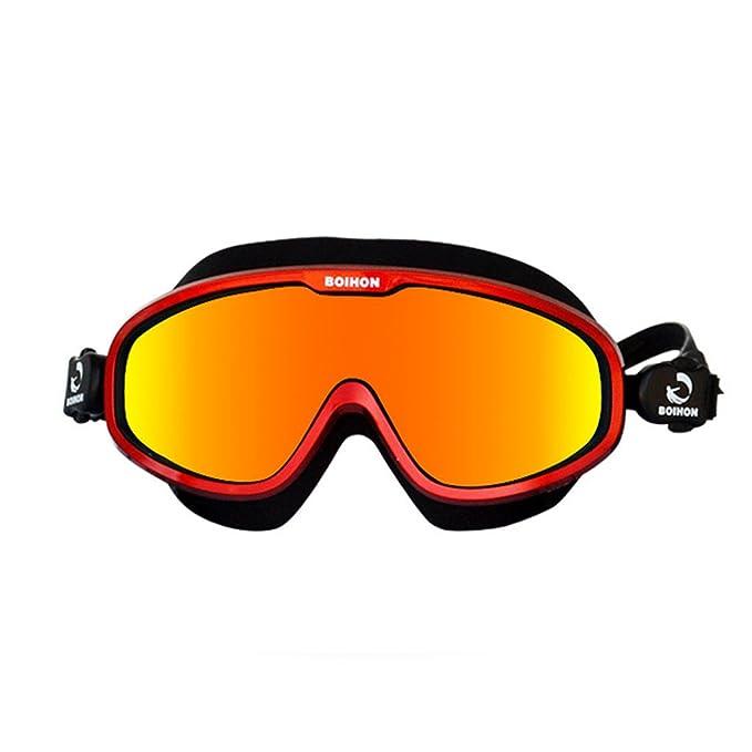 Adultos Gafas de Natación - Marco Grande Espejo de Natación Impermeable Anti Niebla Protección UV Profesional Caja Grande Alta Definición Sin Fugas ...