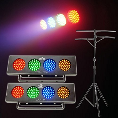 2 Chauvet DJ BANK Party Lights w/Automated Sound Activated Programs+Tripod Stand
