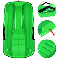 HK Snow Sled for Kids Adults Children in Boat Shape Winter Durable Plastic Snow Sledge Sleigh Toboggan Outdoor Pulling Snow Board Snow Seats