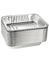 """Aluminum Half Size Deep Foil Pan 30 packs Safe for use in freezer, oven, and steam table.pen,12 1/2"""" x 10 1/4"""" x 2 1/2"""" (-36 gauge-!)Made in USA !"""
