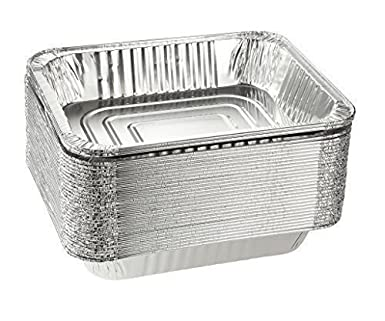 Molde de aluminio de tamaño medio, 50 paquetes de 9 x 13, seguro ...