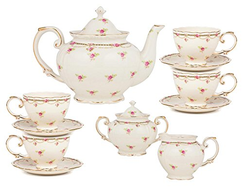 Gracie China by Coastline Imports 11-Piece Porcelain Peti...