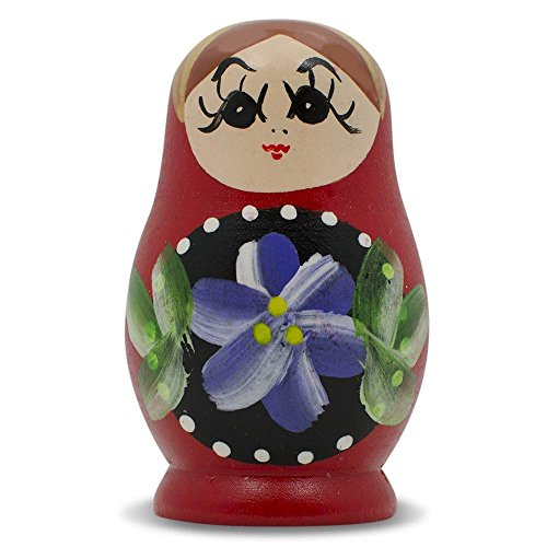 BestPysanky Red Wooden Russian Nesting Doll Fridge Magnet