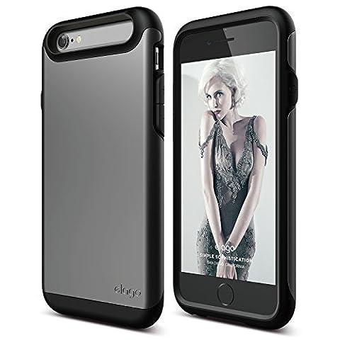 iPhone 6S Case, elago [Duro][Matte Black / Metallic Dark Gray] - [Premium Armor][Heavy Shock Absorption][Dual Layers] – for iPhone (Phone Covers For Iphone 6 Elago)